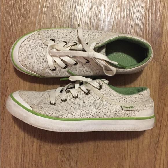 3dc060f7df8 Teva Shoes | Mens Creamgreen Sneakers Size 85 | Poshmark